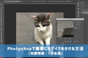 Photpshopで画像にモザイクをかける方法