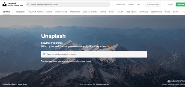 写真素材サイト Unsplash