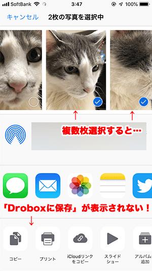 iOSの写真アプリで写真を複数枚選択